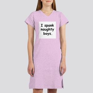 I spank naughty boys. black/white Women's Light T