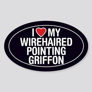 Love Wirehaired PointingGriffon Oval Sticker/Decal