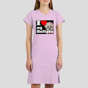 NEW I LOVE My Maltipoo Women's Nightshirt