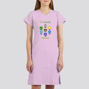Women's Green Power Rally Nightshirt