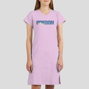 Oregon with Mt. Hood Women's Nightshirt