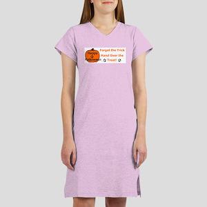 Hand Over The Treat! Halloween Women's Nightshirt