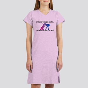 Can I Bring you home to my wi Women's Nightshirt