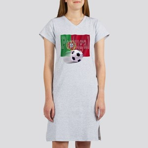 Soccer Flag Portugal Women's Nightshirt