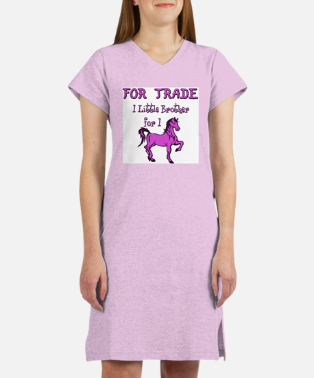 Little Brother For Trade Women's Pink Nightshirt