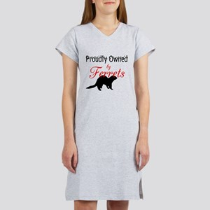 Proudly Owned by Ferrets Women's Pink Nightshirt
