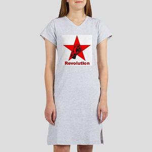 Commie Revolution Star Fist Women's Nightshirt