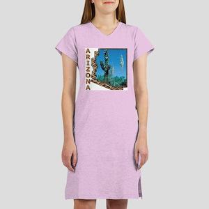 Arizona Saguaro Cactus Women's Nightshirt