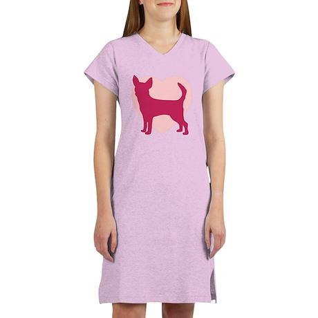Chihuahua Valentine's Day Women's Nightshirt
