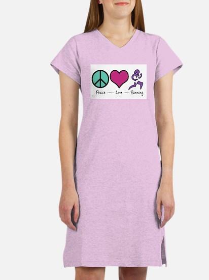Peace- Love- Running Women's Nightshirt