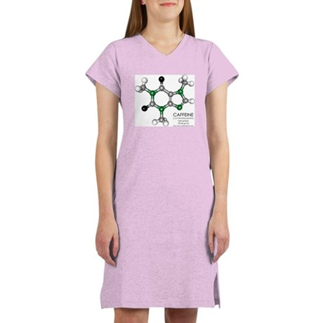 Caffeine Molecule Women's Nightshirt