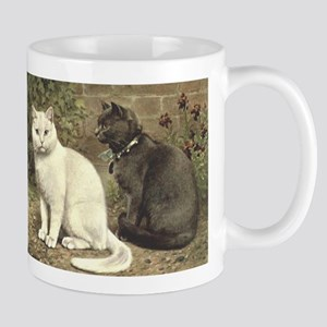 Blue and White Short-haired Cats Mug