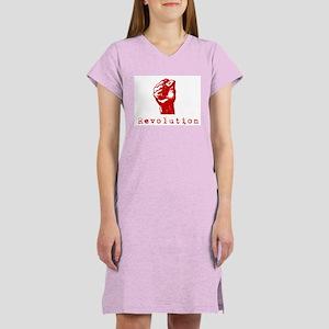 Communist Revolution Fist Women's Nightshirt