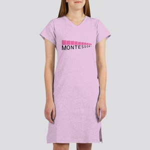 Montessori Pink Tower Women's Light Pink Nightshir