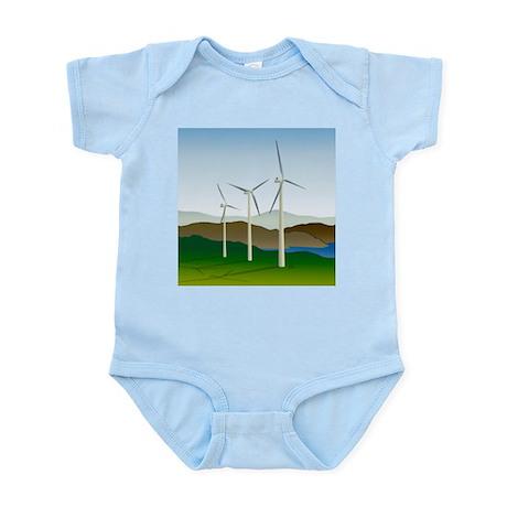 Wind Turbine Generator Infant Bodysuit