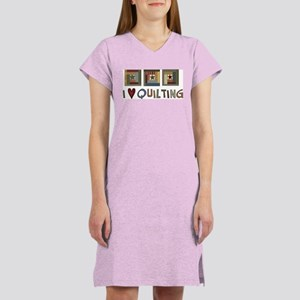 I Love Quilting Women's Nightshirt