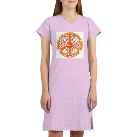 funky peace sign Women's Nightshirt