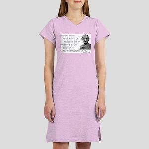 Gandhi quote - Intolerance is Women's Nightshirt