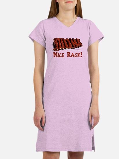 Cute Bbq ribs Women's Nightshirt