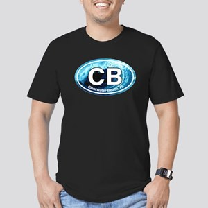 CB Clearwater Beach Wave Men's Fitted T-Shirt (dar
