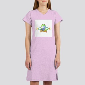 Meditating Frog Women's Nightshirt