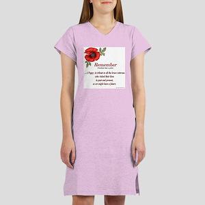 Remember Poppy Women's Nightshirt