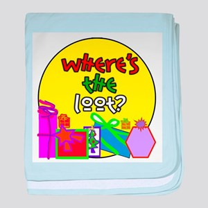 Where's the Loot? baby blanket