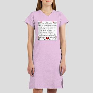 Army Poem of Love Women's Pink Nightshirt