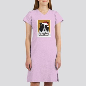 Border Collie DO YOU HERD? Women's Nightshirt