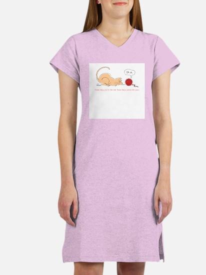 Cat vs. Yarn Women's Nightshirt