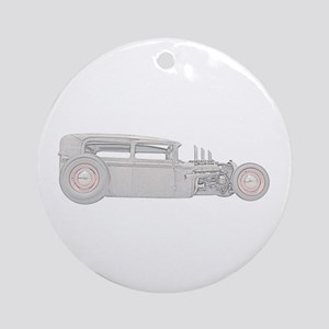 Ford 1930 Rat Rod Ornament (Round)