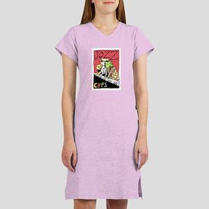 Jazz Cats Women's Nightshirt