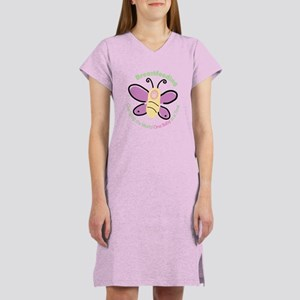 Butterfly Baby Breastfeeding Women's Nightshirt