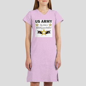 US Army Sister Patriotic Women's Nightshirt