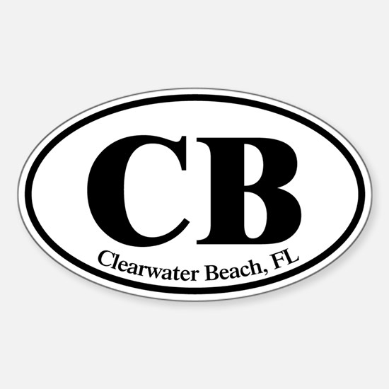CB Clearwater Beach Sticker (Oval)