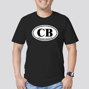 CB Clearwater Beach Men's Fitted T-Shirt (dark)