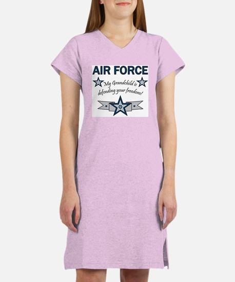 Air Force Grandchild defending Women's Nightshirt