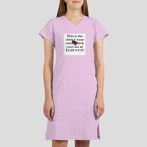 Flip Cup Ass Kickin' Women's Pink Nightshirt