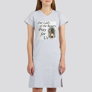 Our Lady of the Rosary (2) Women's Nightshirt