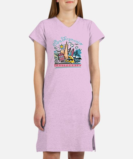Fun San Francisco Women's Nightshirt
