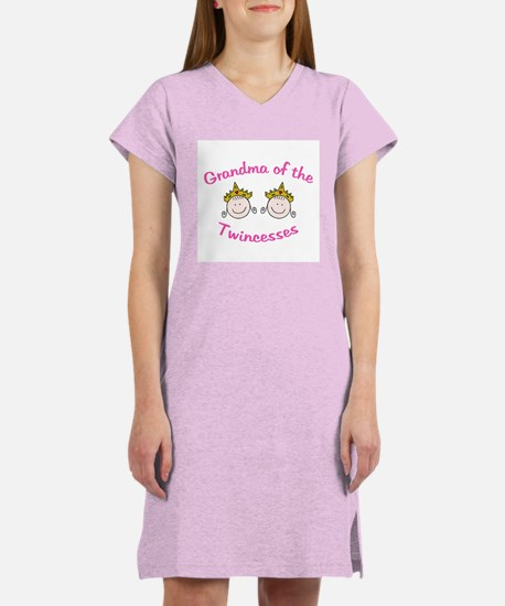 Grandma of Twincesses Women's Pink Nightshirt