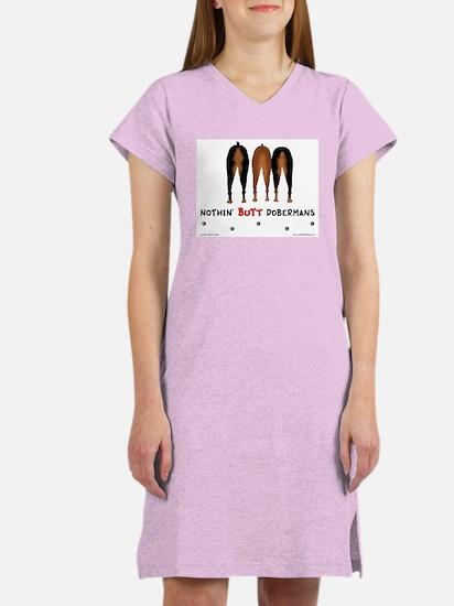 Nothin' Butt Dobermans Women's Pink Nightshirt