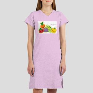 Garden Veggie Friends Women's Nightshirt