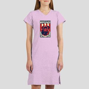 Obey the Black Pug! Women's Nightshirt