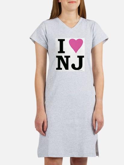 """I LOVE NJ"" Pink Women's Nightshirt"