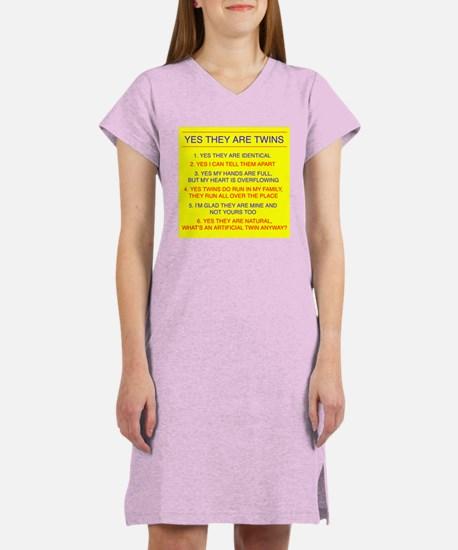 Twins Questions Identical Women's Nightshirt