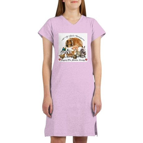 Humane Society Front and Back Women's Nightshirt