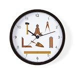 Masonic Working Tools Wall Clock