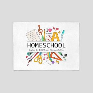 Homeschool 5'x7'Area Rug