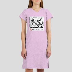 Year of The Dog Women's Pink Nightshirt